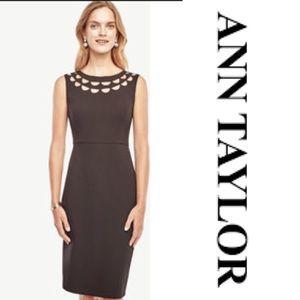 "Ann Taylor petite ""virgo"" cutout dress"